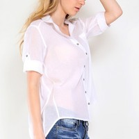 Casual Mornings Button Up Shirt | MakeMeChic.com