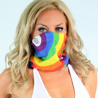 Rainbow Face Bandanna Mask