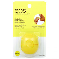 Eos Products Lip Balm - Smooth Sphere - Lemon Drop - Spf 15 - .25 Oz - Case Of 6