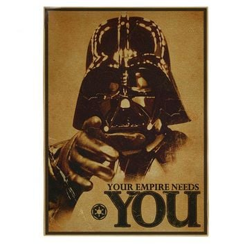 [ Mike86 ] Vintage Star Wars Poster Retro art Wall home Decoration 30X42 CM  BM-375
