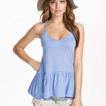 Strappy Frill Top, NLY Blush