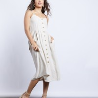 Eve Natural Button Up Dress