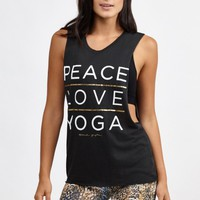 Ply Script Coachella Tank in Vintage Black by Spiritual Gangster | Tops | BANDIER