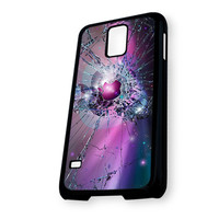 apple logo broken glass Samsung Galaxy S5 Case