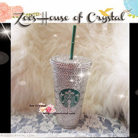 STYLISH CRYSTALLIZED Bling Starbucks CUP - for both cold and hot drink