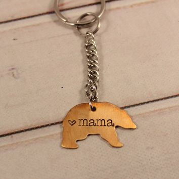 """Mama Bear"" Keychain - Ready to ship!"