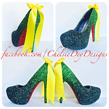 Teenage Mutant Ninja Turtles Inspired Cosplay Comic Con Glitter High Heels
