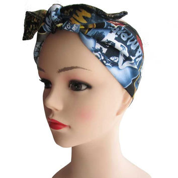 Zombie Horror Fabric Head Wrap Scarf