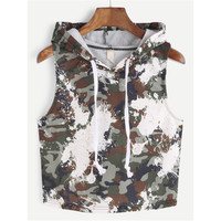 Comfortable Bralette Summer Hot Beach Hats Tops Women's Fashion Stylish Sexy Camouflage Vest [10710153607]