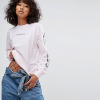 Wasted Paris Long Sleeve Skate Top With Dolce Vita Barbed Wire Print at asos.com