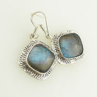 Labradorite Sterling Silver Earrings - keja jewelry