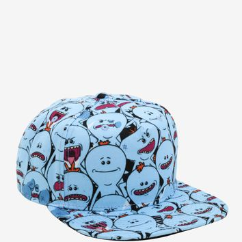 Licensed cool Rick And Morty Mr. Meeseeks All Over Snapback Hat Cartoon Network Adult Swim NWT