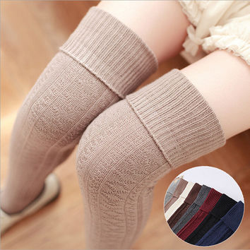 Anti-skid Knee-length Korean Cotton Socks [9259022852]