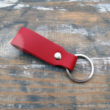 Belt strap leather keychain leather key fob thick leather key holder mens leather key chain red leather keychain genuine leather key ring