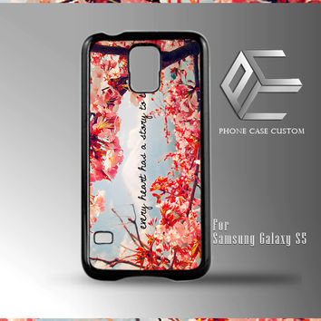 Floral Design Heart Quote case for iPhone, iPod, Samsung Galaxy