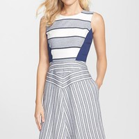 Women's NYDJ Mixed Stripe Fit & Flare Dress,