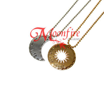 GAME OF THRONES Moon of My Life My Sun and Stars Dothraki Couple Necklace