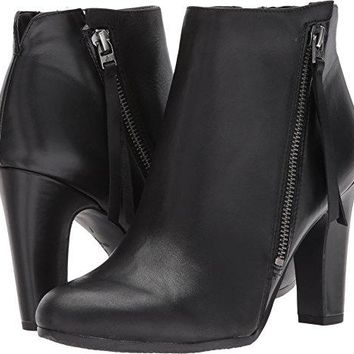 Sam Edelman Women's Sadee Ankle Boot, Black Leather, 9.5 Medium US