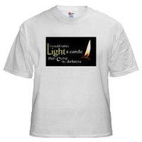 Light a Candle White T-Shirt> Light a Candle> Cross Threads
