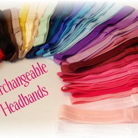 Best Bands on Etsy 40 Interchangeable Fold Over Elastic FOE Headbands For Newborn Baby Toddler Girl Adult Wholesale Resell Prices