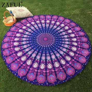 ZAFUL New 12 Color Scarves Beach Throw Towel Bohemian Ethic India Mandala Print Boho Cover Up Tablecloth Blanket Pashmina