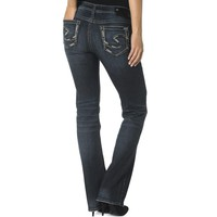Silver Jeans Co. Womens Aiko Denim Mid-Rise Bootcut Jeans