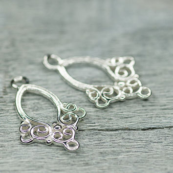 Shop Filigree Earring Components on Wanelo