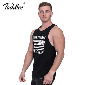 Taddlee Brand Men's Tank Top Cotton Fitness Singlets Stringer Male Tshirts Sleeveless Sports Bodybuilding Hip Hop Muscle Shirts
