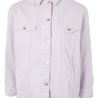 MOTO Lilac Elbow Rip Denim Jacket - New In Fashion - New In