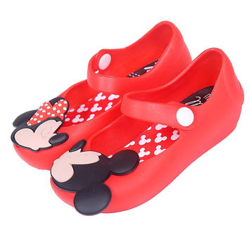 Girls sandals Mini sed Brand Summer girls Sandals Cute Girls shoes Children Mitch Baby Shoes For Girl shoes size 13-15.5cm