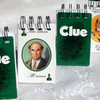 4 CLUE Playing card Notebook Mini - Bilingual - English and French