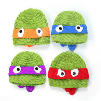 Ninja Turtle Infant Baby Knit Hats