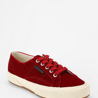 Superga X Man Repeller Velvet Low-Top Sneaker