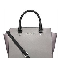 Michael Michael Kors Colorblock Selma Medium Top Zip Satchel