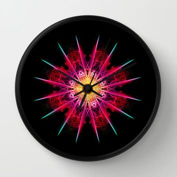 Sunburst Wall Clock by Steve Purnell