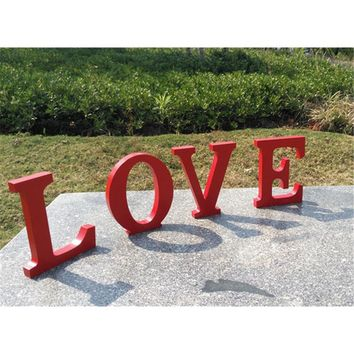 13x15x2cm (thick) Wedding Decoration Wooden LOVE Letters Wedding Favors