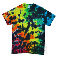 Rainbow Crackle Tie Dye T Shirt on Sale for $16.95 at HippieShop.com