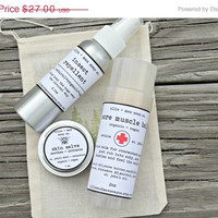 ON SALE Campers Survival Kit, Outdoors Gifts for him, Gifts For Dad, Insect repellent, bug spray, skin salve, muscle balm