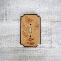 Light Switch Cover Wooden Light Switch Cover Embossed Butterfly Design Light Switch Plate Cottage Chic Light Switch Cover Home Improvement