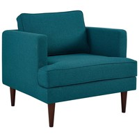 Agile Upholstered Fabric Armchair Teal EEI-3055-TEA