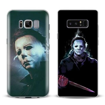 Michael Myers Halloween Phone Case Cover Shell For Samsung Galaxy S4 S5 S6 S7 Edge S8 Plus Note 8 2 3 4 5 A5 A7 J5 2016 J7 2017