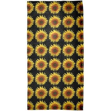 Sunflower Pattern All Over Bath Towel