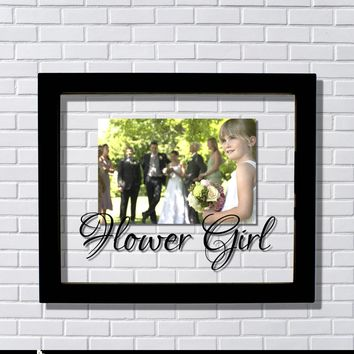 Flower Girl Frame - Floating Frame - Photo Picture Frame - Wedding Ceremony