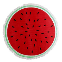 Watermelon Round Tassel Beach Towel