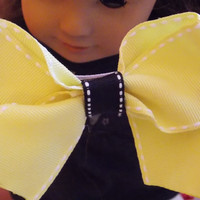 Yellow and Black Basic Boutique Bow