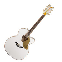 Gretsch G5022CWFE Roots Collection Rancher Jumbo White Falcon Acoustic Electric Guitar at Hello Music
