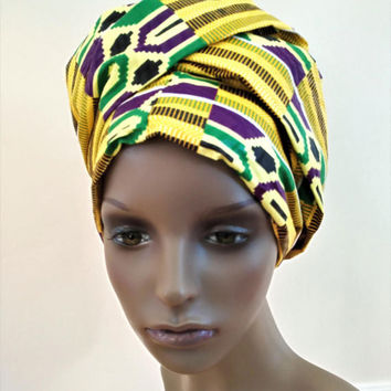 African Headwrap Yellow
