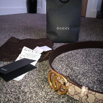 Gucci Belt Monogram With GG buckle