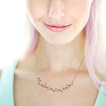 ON SALE - As Above So Below Necklace - Alchemy Quote Jewelry - Hermetic White Magic Mystic Oracle