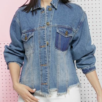 LARSA CROPPED DENIM JACKET